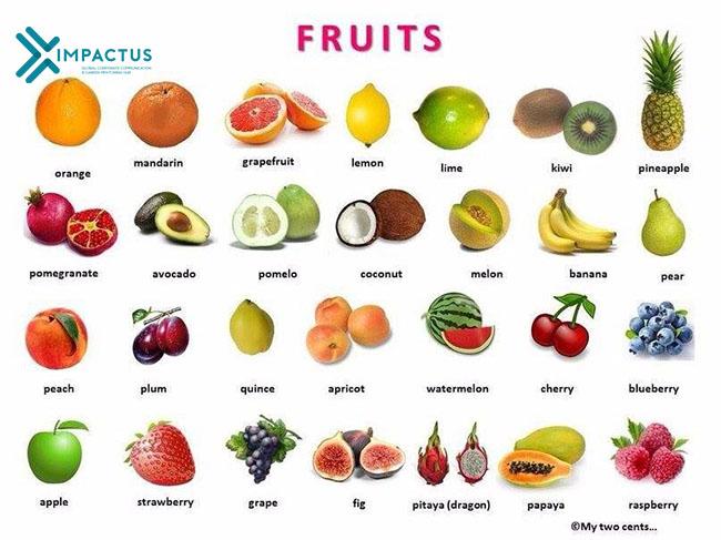 Các Loại Trái Cây Tốt Cho Sức Khỏe 2